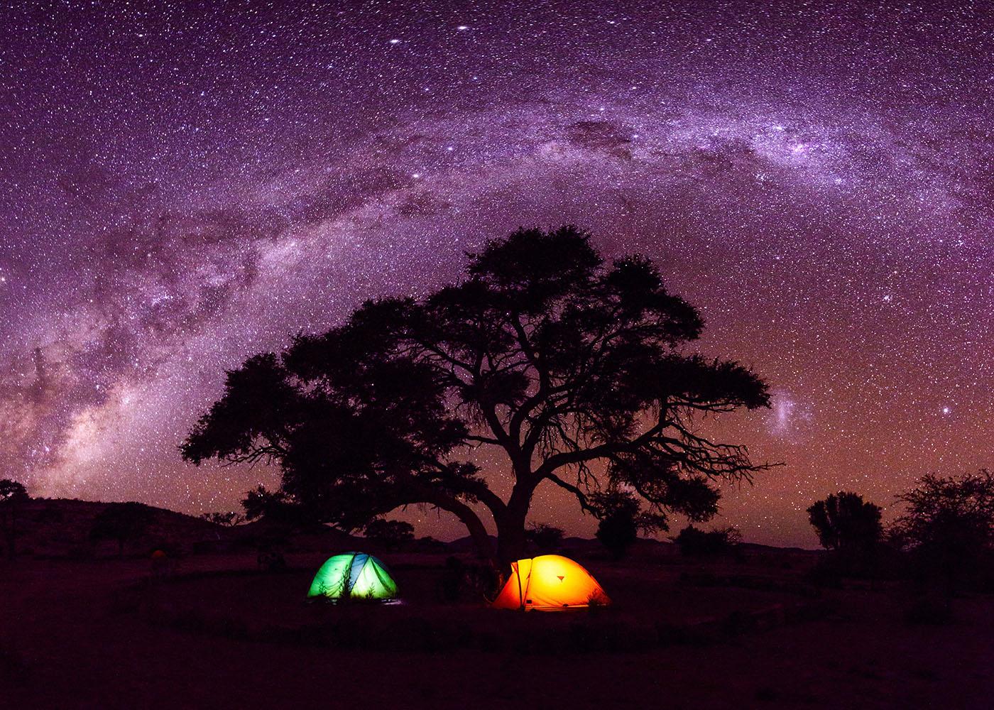 Namibie, ciel étoilé désert du Namib